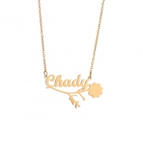 Personalized Letter Name Custom Necklace Clavicle Chain
