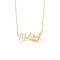Creative Letter Name Mermaid Pendant Necklace