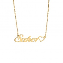 Custom DIY Name Pendant Clavicle Chain Necklace