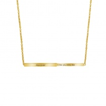 Retractable Three-dimensional Rod Pendant Customized Name Necklace