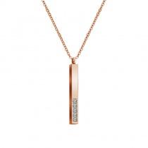 Three-dimensional Rod Pendant Custom Lettering Diamond Necklace