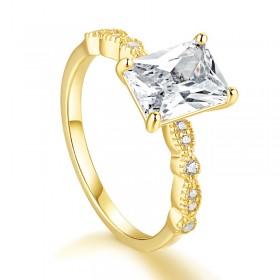 1 Carat Infinity Square Cut Engagement Rings