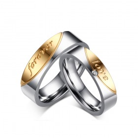 Forever Love Titanium Steel Couple Rings