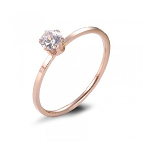 Rose Gold Titanium Steel Ring