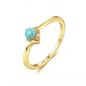 Blue Opal Rings in Sterling Silver