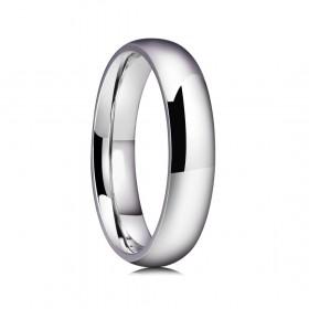Silver Titanium Steel Rings