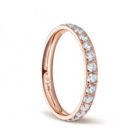 Cubic Zirconia Engagement Rings in Titanium