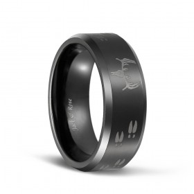 Laser Etched Deer Hunting Tungsten Rings