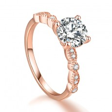 1 Carat Infinity Round Cut Engagement Rings