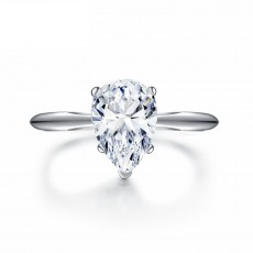 Pear Shaped Ring 2 Carat Sona Diamond