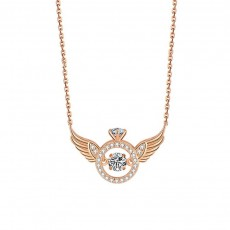 S925 Sterling Silver Angel Wing Necklace