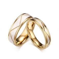 Matte Finish Titanium Steel Couple Rings