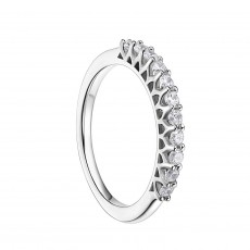 Sterling Silver CZ Eternity Rings