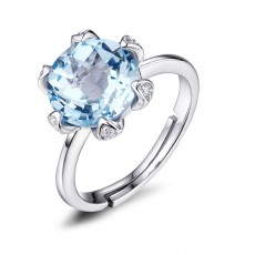 Natural Topaz Rings in Sterling Silver