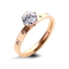 Rose Gold Wedding Rings in Titanium Steel