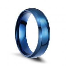 Blue Titanium Steel Rings