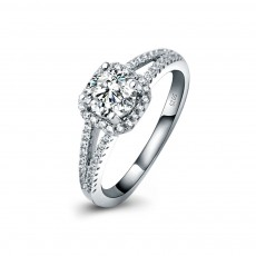 Micro Pave CZ Ring in 925 Sterling Silver