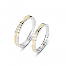 Simple Matching Promise Rings in Sterling Silver