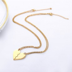 Titanium Steel Peach Heart Combination Necklace