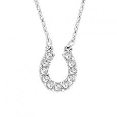 Lucky Horseshoe U-shaped Pendant Necklace