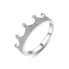 CZ Sterling Silver Rings Crown Shape