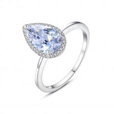 Teardrop-cut Crystal Rings in Sterling Silver