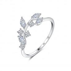 Sterling Silver Rings Vine Leaves Design