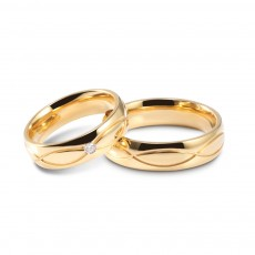 Titanium Steel Cz Rings Couple Rings Set