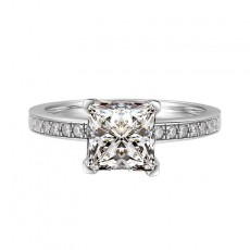 Engagement Rings for her Sterling Silver Embellished with Crystals from Swarovski