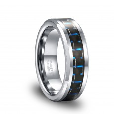 Carbon Fiber Inlay High Polish Tungsten Band