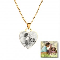Heart-shaped Titanium Steel Pendant Necklace For Lovers
