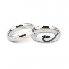 Love Heart Titanium Steel Couple Rings