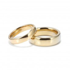 Gold Plated Titanium Steel Couple Rings