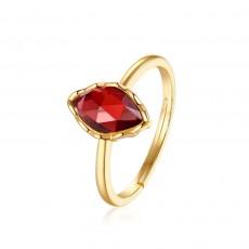 Red Natural Gemstones Sterling Silver Rings