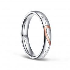 Real Love Heart Titanium Steel Rings for Women