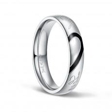 Real Love Heart Titanium Steel Rings for Men