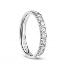 Cubic Zirconia Titanium Rings