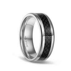 Carbon Fiber Black Titanium Rings