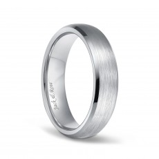 Unisex Beveled Titanium Wedding Rings