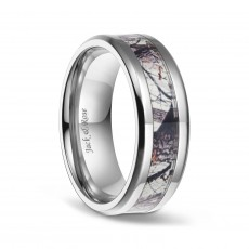Titanium Camo Wedding Bands