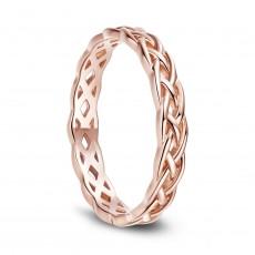 Rose Gold Celtic Knot Sterling Silver Rings