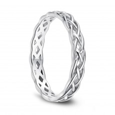 Eternity Knot Wedding Band in Sterling Silver