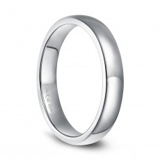 Domed Sterling Silver Wedding Rings