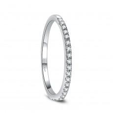 CZ Women Eternity Rings Sterling Silver