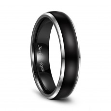 Two Tone Tungsten Wedding Bands