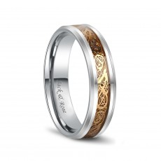 Gold Celtic Rings in Tungsten