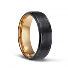 Rose Gold Plated Tungsten Engagement Bands