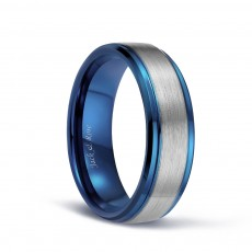 Blue Plated Tungsten Rings