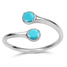 December Birthstone Rings in Sterling Silver