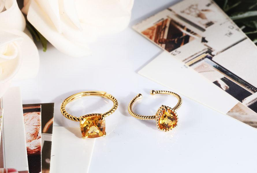 Philippines Unique Gold Plated Wedding Rings for Women